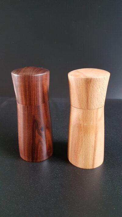 peper en zoutmolen hout