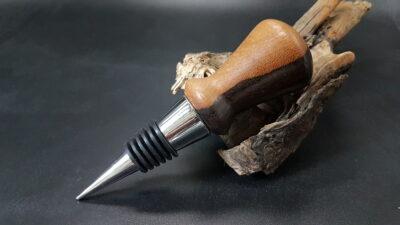 Wijnflesstopper van Ziricote hout